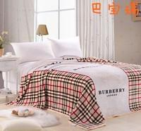 Free shipping! High grade ultra soft golden mink cashmere blankets / coral velvet / FLANNEL / Black blanket 180*200 Ba Baorui