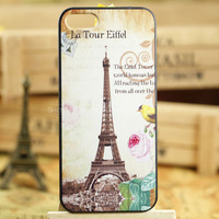 Effiel Tower Series 3D Luxury PC Phone Case for Iphone 5 5S