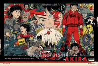 "001 Akira - Red Fighting Hot Japan Anime 35""x24"" Poster"