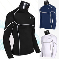 2014 New Arrival Active Cotton New Men's Long-sleeved Sports Tights / Fitness T Shirt Speed Drying Clothes Long Sleeve Training