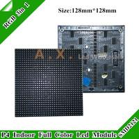 Super Lower ! P4 SMD 3in 1 Indoor Full Color Led Display Module 1/16 San 128 * 128mm