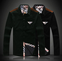 Mens Dress Shirts Corduroy Men Casual Shirt  Camisas Long Sleeve Plaid Big Size M L XL XXL XXXL 4XL 5XL A0135