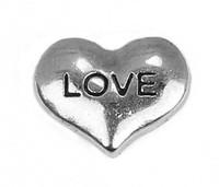 20PCS!!  LOVE Floating charms Zinc Alloy Fit Floating lockets & Floating locket bracelet