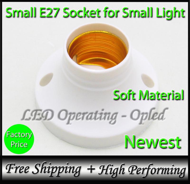 10pcs 7.99USD per lot free shipping - Cheap Small e27 socket for small led bulb lamp e27 holder(China (Mainland))