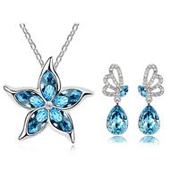 star silver jewelry set, Tz-1297