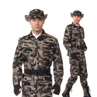 Free shipping polyester material cabo camouflage sports suit men clothing set military sportswear tactical suits