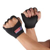 SX670 Cycling Fitness Half Finger Sport Gloves - Black (Pair)