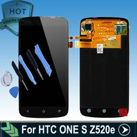 Original Replacement LCD Screen For HTC ONE S Z520e LCD Display Digitizer Touch Glass + tools