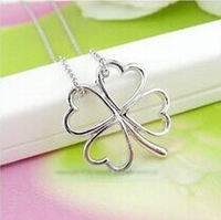 Min.order is $5 (mix order) Free Shipping New Fashion Hollow Clover Necklace Studs Sets Christmas Gift  (ON0341)