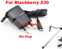 EU Charger AC Wall Charger Mobile Phone Charger USB Phone Charger +Stylus Pen For   Blackberry Z30