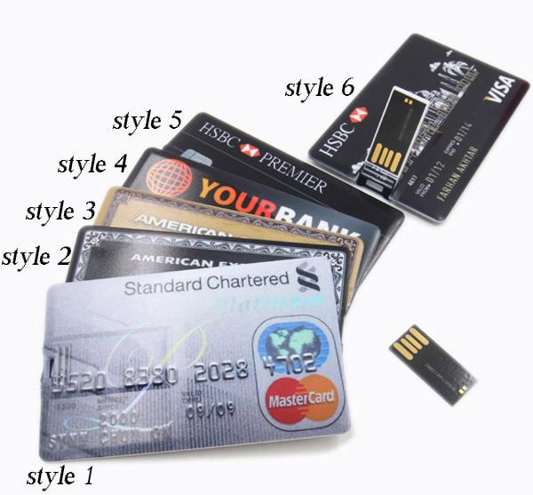 4G/8G/16G/32G Bank Credit Card Shape USB Flash Drive Pen Drive Memory Stick,Drop Shipping+Free Shipping(China (Mainland))