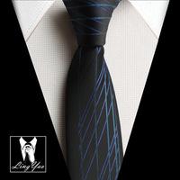 NEW Arrival men's skinny tie designers Popular necktie black with character stripes