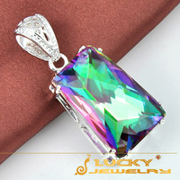 new 2014 Best Christmas Gift Rainbow Fire Mystic Topaz Pendants For Women P0406 Free Chain