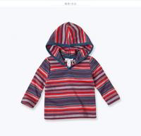 DB186 davebella spring autumn baby striped printed coat babi outwear