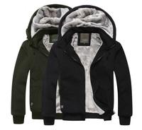 2014 fashion casual hooded jackets sweater Men's detachable hood zipper Cardigan cashmere sweatshirts thick winter warm coat