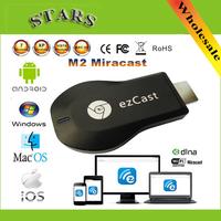 M2 Ezcast Chromecast miracast airplay dlna tv stick wireless display media player 1080p hdmi wifi dongle for windows ios andriod