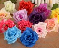 "200 pcs 3"" Artificial ROSE Flowers Head Silk Decorative Flowers Wreaths Bridal Wedding Party Supplies Festive Home Decor"