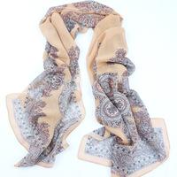 Women Scarf Fashion 2104 Desigual Print Chiffon Silk Scarves Women's Long Shawl Soft Women Clothing Spring and Summer1953