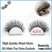 Fastest Shipping! Super soft black curl type 3D volume mink fur strip eyelash,hand make real mink 3D lashes extension