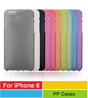 0.3mm Ultra Thin Slim Matte Frosted Transparent Clear Hard PP Cover Case Skin For Apple iPhone 6 6G iPhone Air 10pcs/lot