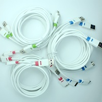 9pcs lot pack 1M 2M 3M 3ft 6ft10ft long Micro USB 3.0 colorful charger Cable For Samsung Galaxy S5 SVI I9600 Note3 N900