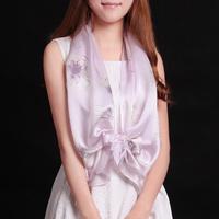 Regal parent 2014 spring and summer mulberry silk pure silk women's flower long silk scarf