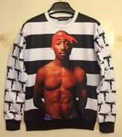 Classic model 2014 Women/Men's 3d Sweatshirts print basketball star cotton strtiped 3d hoodies women sweater top WT51