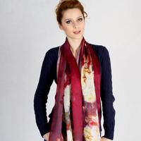 Long design silk scarf digital high quality mulberry
