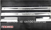 Free shipping! sunny 2010-2012 Door Sills 4pcs/set Plate/Due tone door sills(High quality stailness steel