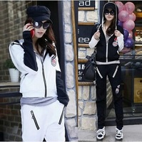 2014 Spring and Autumn new women's fashion Korean fashion casual sportswear suit hooded long-sleeve jakcet set women