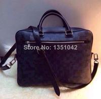 Men's Briefcases messager bag PORTE-DOCUMENTS BUSINESS N41347 black plaid