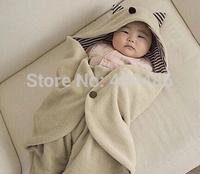 Freeshipipng Multifunction Infant Baby Kid Swaddle Fleece Warm Blanket Hooded Wrap Sleeping Bag For 0-12months