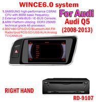 free shipping WINCE6.0 system 7'' hd car dvd radio gps navigation for audi Q5 RIGHT HAND Bluetooth TV IPOD SD/USB