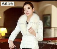 Atmosphere Spliced  fur collar cotton-padded clothes women winter Eiderdown cotton /women fashion warm quilted jacket