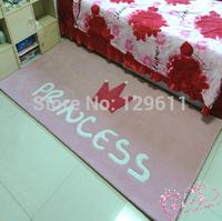 free shipping fashion logo brand carpet bathroom products pink cartoon rug for child cushion for living room princess