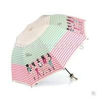 free shipping 2014 Superior UV protection UPF50 + Creative folding sun umbrella