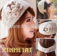 30pcsMs euramerican popularity hair band Camellia flowers bring warm wool hair band Han Guokuan hair hoop 20 color