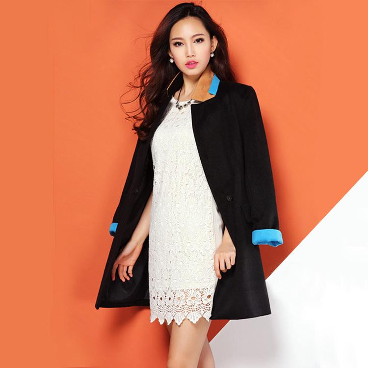 Blazer Coat Womens Women Woolen Blazer Coat