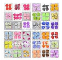 1000pcs Artificial Silk Rose Petals Wedding Petal Flowers 5*4.6cm have 40 Colors can mixed order