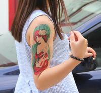 2014 Hot sale fashion temporary tattoo sticker fashion beauty model temporary tattoo for arm free shipping