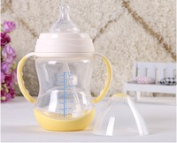 Latex Free Closer to Nature 260ml Pink Decorated Baby Feeding Bottles 3 Pack