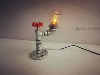 HOT Luxury Antique Vintage Desk Table Lamp Light Manual DIY Handmade For Loft RH Cafe Bar Study E27 Single Arm