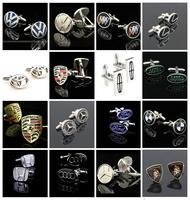 3 Pairs fun famous Logo Design Cufflinks Mens Shirt Cuff links Jewelry Wedding Birthday Party Business Formal Wear Cuff link