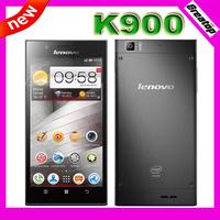 "Original Lenovo K900 phone 6.9mm Intel Atom Z2580 2.04Ghz Android OS 4.2 RAM2GB+16G 5..5"" Gorilla Screen 1920x1080 13.0MP Camera"