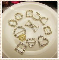 AL729123,10 style mix, Alloy Flatback Inlay Bling Crystal Handmade Decorative Button Women Button,DIY accessories handmade