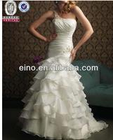 MHZ023 wholesale free shipping new fashion Sash Floor Length Mermaid Wedding Dress
