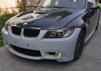 for BMW 3-Series Sedan E90 2006-2008 change to E90 M3 look car front engine hood bonnet carbon fiber  M3 style