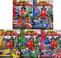 Original Bandai Kaizoku Sentai Gokaiger GOKAI-OH Figure Full Set Gashapon Candy Toy Megazord