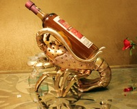 Quality Lifelike Lobster Model Sculpture Wine Bottle Support Art and Craft Accessories for Business Gift and Home Decoration