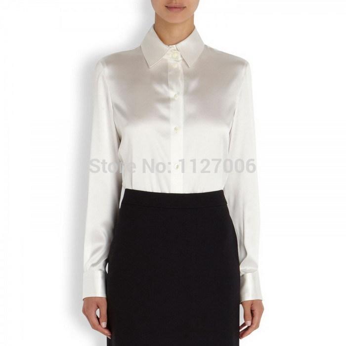 White Polyester Blouses 17